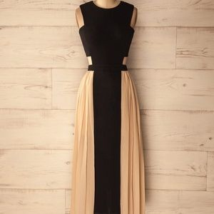 Boutique 1861 Black and Beige Cocktail Dress